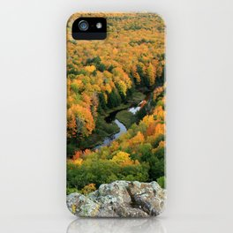 Autumn Colors at the Carp River Valley, Porcupine Mountains State Park, Upper Peninsula, MI iPhone Case