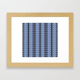 Boho Gothic Lace Framed Art Print