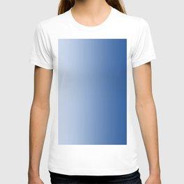 Pastel Blue to Blue Vertical Linear Gradient T-shirt