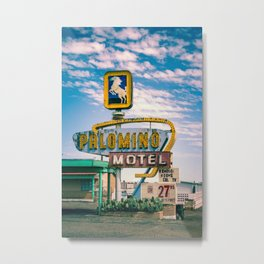 Palomino Motel Vintage Neon Sign in Tucumcari New Mexico along Route 66 Metal Print