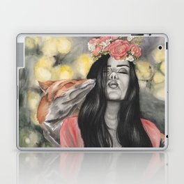Fox & Flowers Laptop & iPad Skin