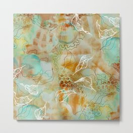 Unfinished Florals Metal Print