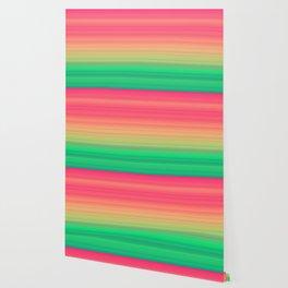 Tropical stripes Summer pattern Wallpaper