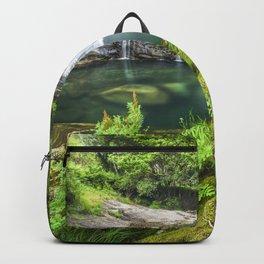 A magic lake deep in the woods Backpack