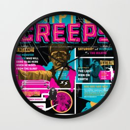 Spook Show Tribute Poster 04 Wall Clock