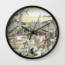 The Bathers 2017 Wall Clock