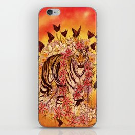 Black Chain Tigress iPhone Skin