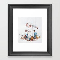 Very big rabbit Framed Art Print