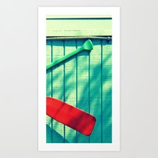 Boat Oars Panel 3 (3 pieces to make full photograph) Art Print
