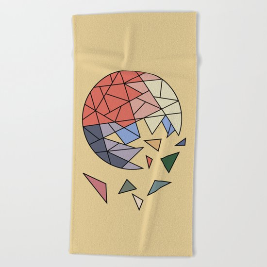CONSTANT EVOLUTION (abstract geometric) Beach Towel