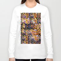 lindsay lohan Long Sleeve T-shirts featuring Lindsay-Alice-Court-Glitch by Peter Marsh