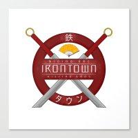 studio ghibli Canvas Prints featuring IRONTOWN - Studio Ghibli by Aonair Designs