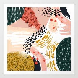 Artistic brush-strokes Art Print