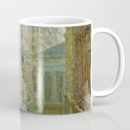Classical Masterpiece 'Lower Manhattan - Broad and Wall Streets' by Frederick Childe Hassam Coffee Mug