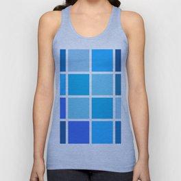 shades of blue Unisex Tank Top