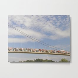 People on the Bridge Metal Print