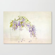 Still life with wisteria Canvas Print