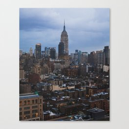 Empire State Building and the Manhattan skyline Canvas Print