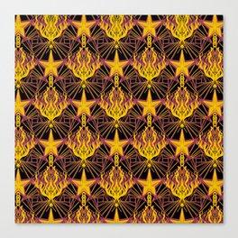 Starfire Kaleidoscope (Glowing Embers of the Sun) Canvas Print