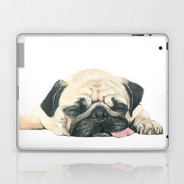 Nap Pug, Dog illustration original painting print Laptop & iPad Skin