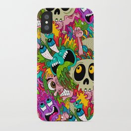 Puke Pattern iPhone Case