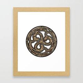 Bronze Medallion Framed Art Print