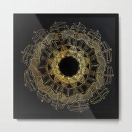 Gold Circle Design Metal Print
