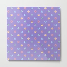 Lilac and Pastels SW Pattern Metal Print