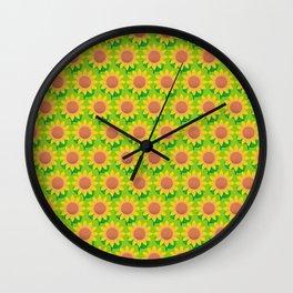 Sunflower Pattern_H Wall Clock