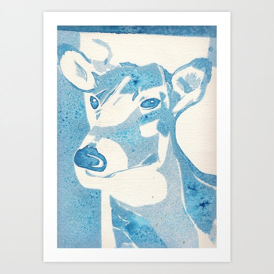 Deerest Blue Art Print
