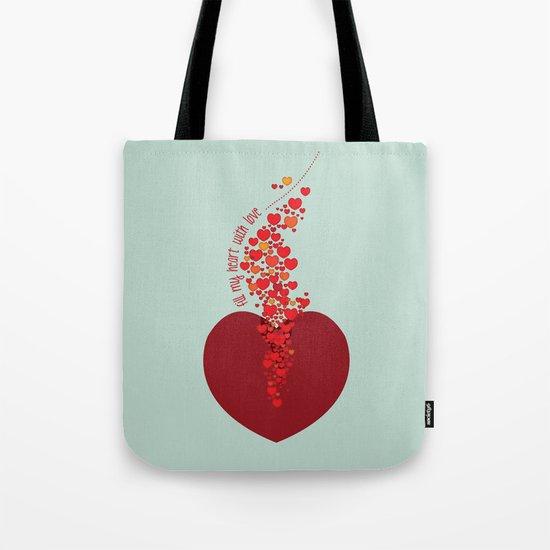 love overflow Tote Bag