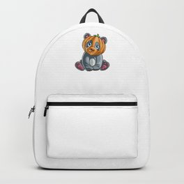 Panda Pumpkin, It's Show Time Funny Halloween Horror Scary Backpack
