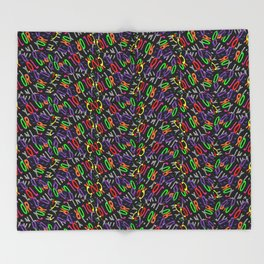 Colored Only in a Square World Throw Blanket
