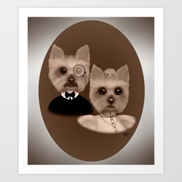 """Lord Biscuit and Lady Heidi"" Art Print"
