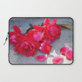 Lost a Step - Roses and Granite Laptop Sleeve