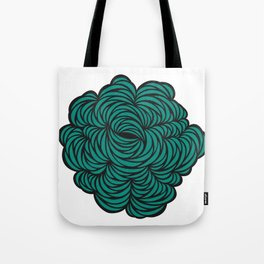 Intricate cut paper in turquoise Tote Bag