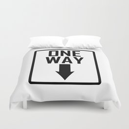 One way sign Duvet Cover