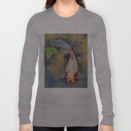 Koi with Japanese Maple Leaf Long Sleeve T-shirt