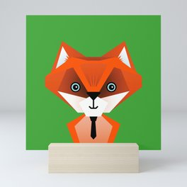 Clever Fox – Childrens Room Illustration for Boys and Girls Mini Art Print