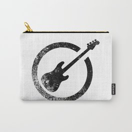 Bass Guitar Ink Stamp Carry-All Pouch