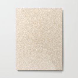 Melange - White and Tan Brown Metal Print