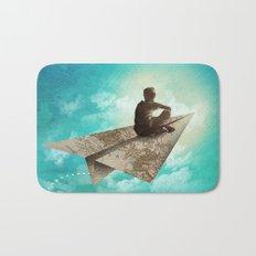 Paper Aeroplane Bath Mat