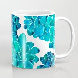 Turquoise succulents Coffee Mug