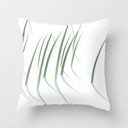 Reeds in Snow Throw Pillow