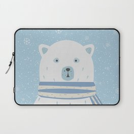 Polar White Bear with Scarf Laptop Sleeve