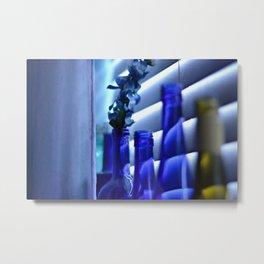 Blue Bottles - 3 Metal Print