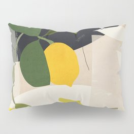 Lemon Abstract Art Pillow Sham