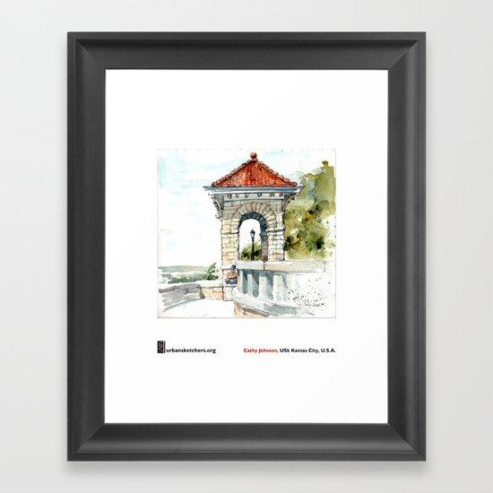 """Cathy Johnson, """"Case Park"""" Framed Art Print"""