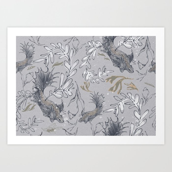 Goldfish, make a wish! Art Print