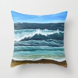 Ocean Beach Landscape Throw Pillow